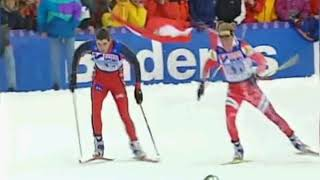 Nordic World Ski Championships Ramsau 1999 Mens Relay Hoffmann AUT vs Alsgaard NOR