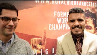 'WHEN I COME BACK TO SCOTLAND FIGHTING JOSH TAYLOR IM BRING SOME EXTRA COATS!' - MIGUEL VAZQUEZ