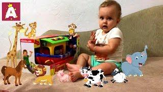 Ноев ковчег Распаковка и обзор игрушки сортера Noah ark Review Unboxing Toys  🌊🚢👴