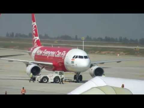 Air India  & AirAsia Aircraft Pushbacks @ Bangalore & Delhi Airports