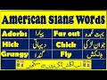 American slang with Urdu meanings || Learn American street talk || English fort || Lesson 2 ||