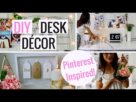 Pinterest Inspired DIY Desk Decor And Organization | Cheap And Easy!
