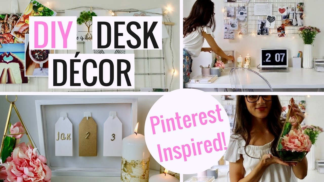 Pinterest Inspired DIY Desk Decor And Organization