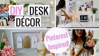 DIY Pinterest Inspired Desk Decor | Cheap And Easy!