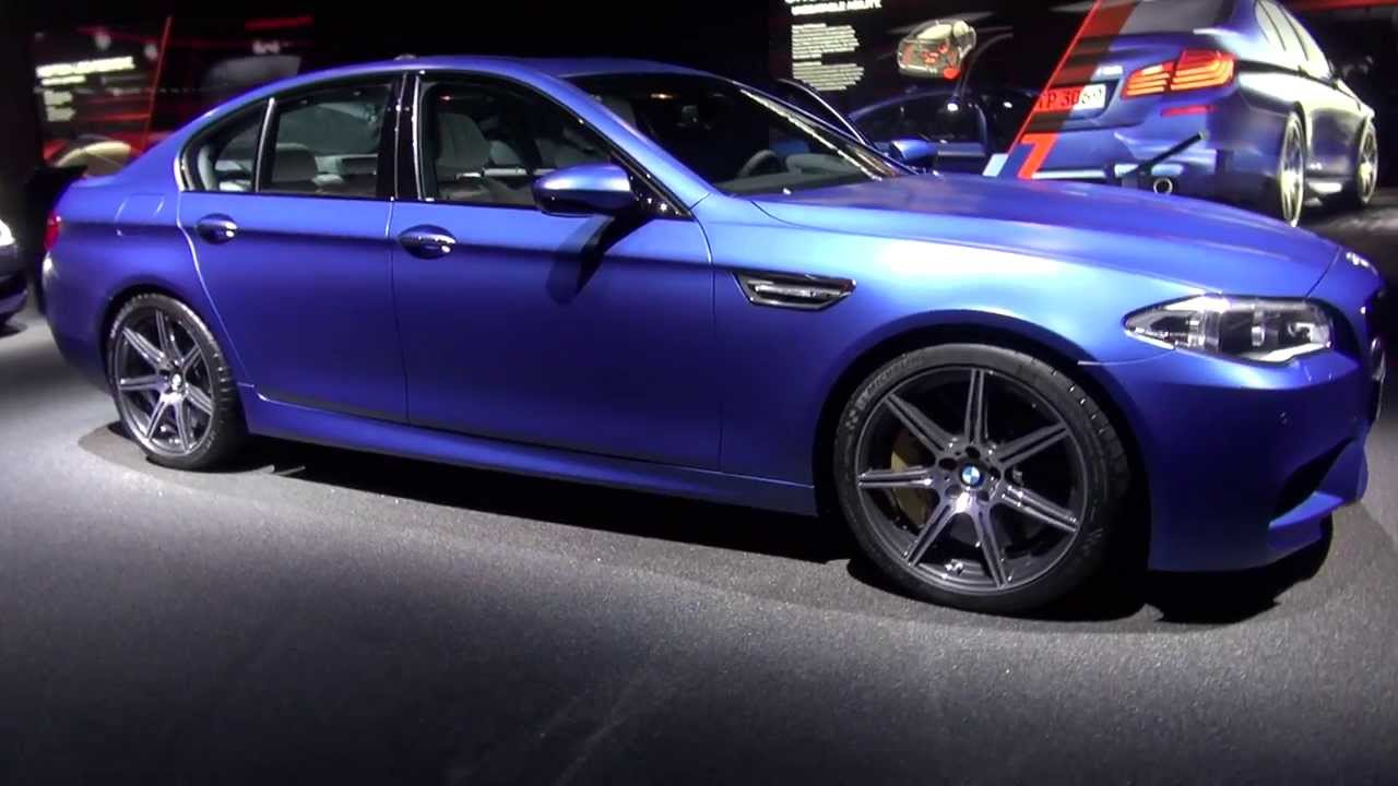 Facelift Frozen Blue Bmw M5 F10 Competition Package With