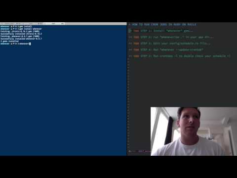 RUBY ON RAILS CRON JOBS IN FIVE MINUTES