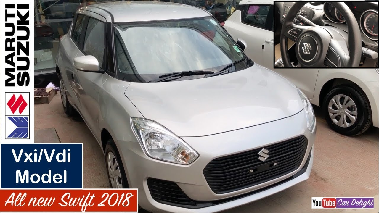 Maruti Swift 2018 Vxi,Vdi Model Silver Colour Interior and Exterior  Walkaround Review
