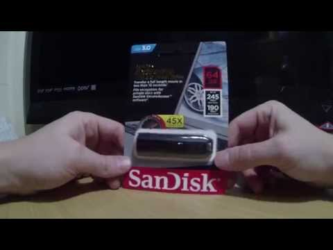 Sandisk Extreme 64gb USB 3.0 flashdrive SPEED TEST and review