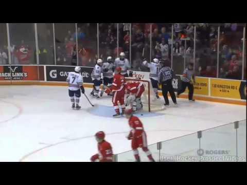 Hunter Smith Hat Trick vs Sault Ste. Marie (10/19/14)