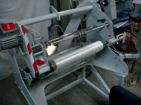 видео: Станок для перемотки стрейч пленки СПП-500-550