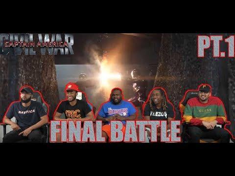Captain America Civil War: Iron Man Vs. Captain America And Winter Soldier PT.1 REACTION
