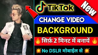 How to change tik tok Video Background || Tiktok Video ka Background Black kaise kare