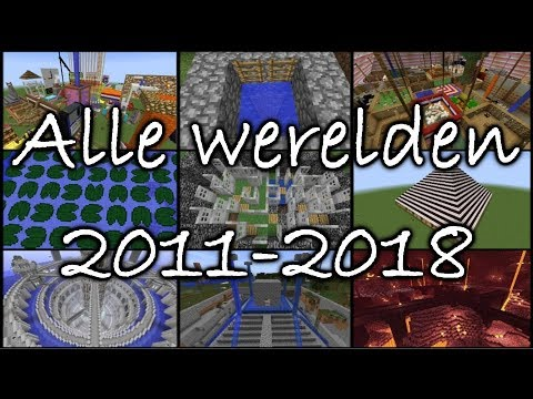 Dit zijn ALLE Minecraft werelden die ik heb gemaakt van 2011 tot 2018...
