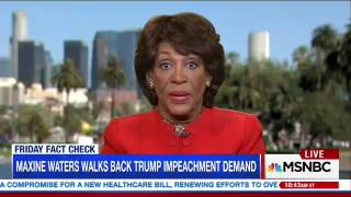MSNBC Mocks Maxine Waters For Claiming She Never Called For Trump