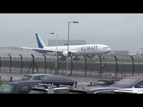 ✅ Horrible rainy weather at London Heathrow Airport Lovely British Summer time