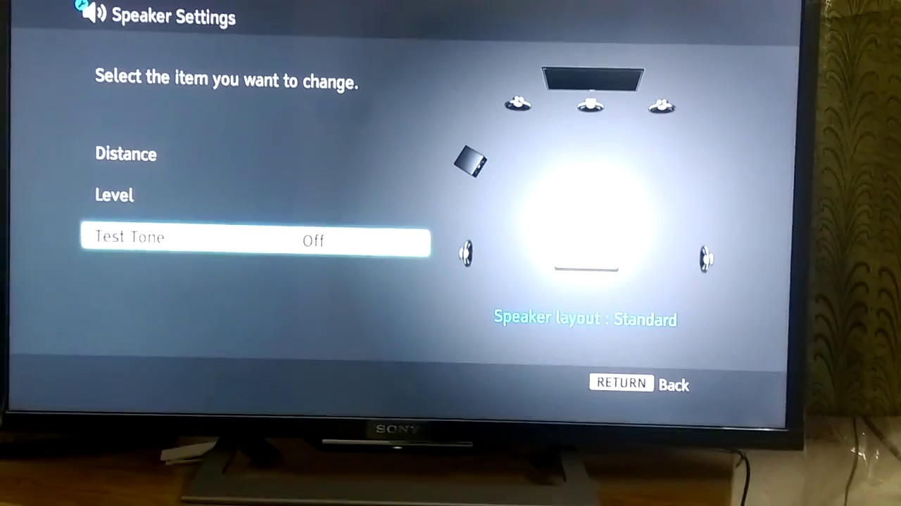 SONY BDV-E3200 BLURAY 5.1 Audio Options Settings & Dolby