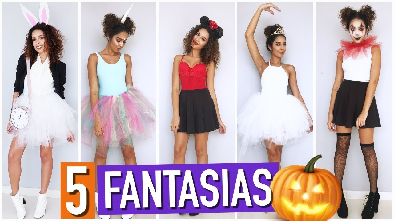 Diy 5 Ideias De Fantasias Para O Halloween Youtube