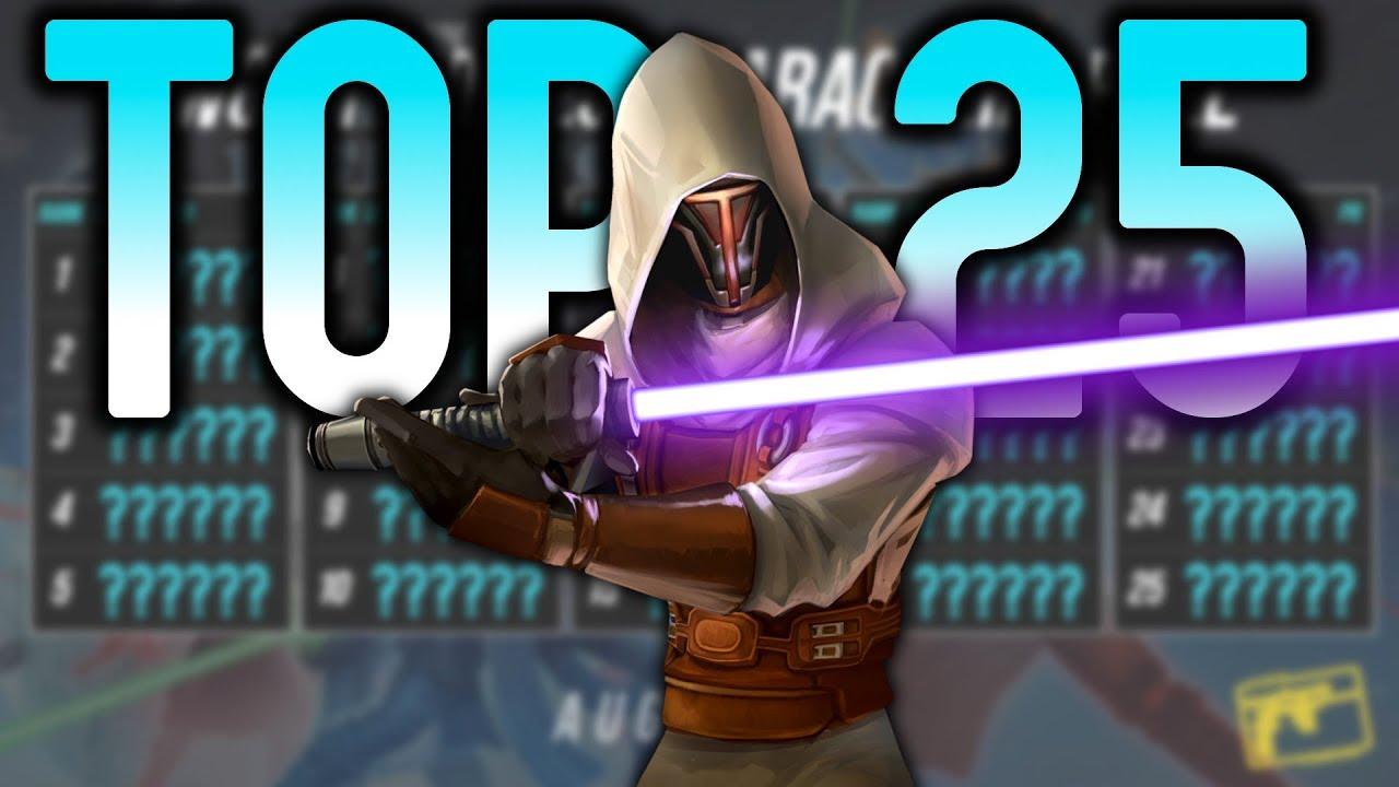 Top 25 Heroes in SWGoH Ranked! | Star Wars: Galaxy of Heroes