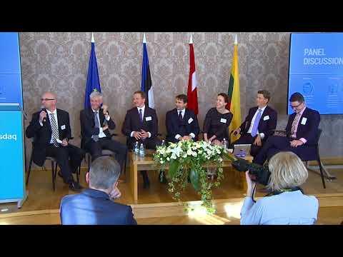 Panel discussion at Nasdaq CSD Grand Launch event in Riga