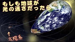 もしも地球が光の速度だったら【universe sandbox 2:宇宙物理シミュ】