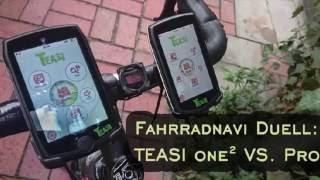 Test Fahrradnavigation TEASI one gegen TEASI pro