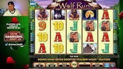Wolf Run LIVE slot machine play [Online Gambling with Jersey Joe # 53]