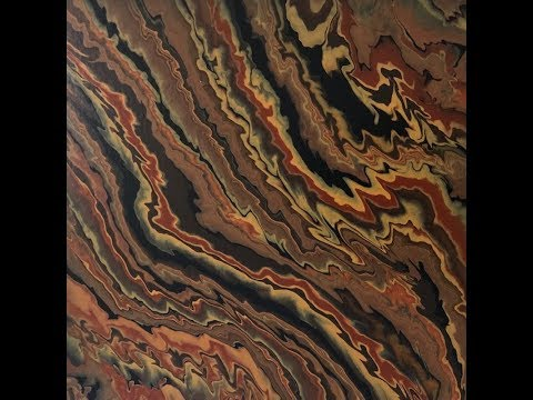 Earth Toned Re Pour Acrylic Painting Fluid Art