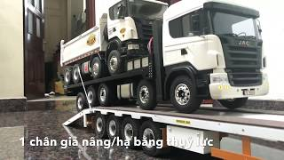 Xe tải điều khiển kéo mooc khủng | scania nâng đầu | scania ben dump truck | mercedes actros
