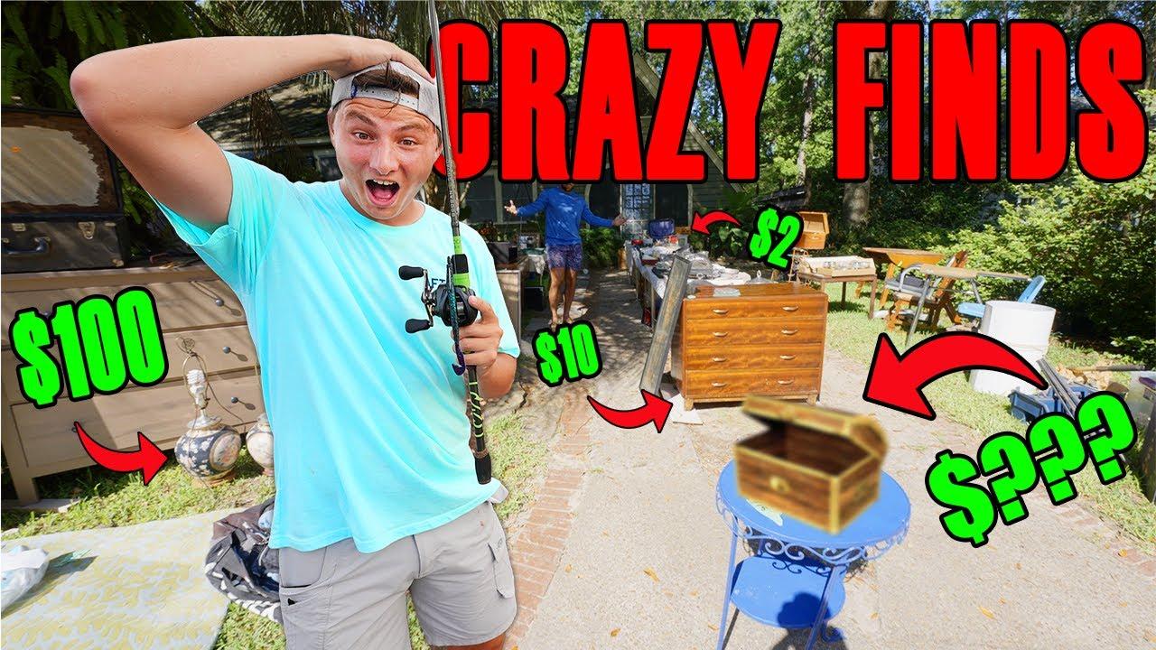 World´s CRAZIEST Fishing GARAGE SALE Finds! (Crazy)