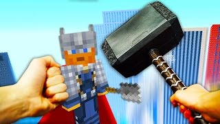 REALISTIC MINECRAFT - STEVE BECOMES THOR!