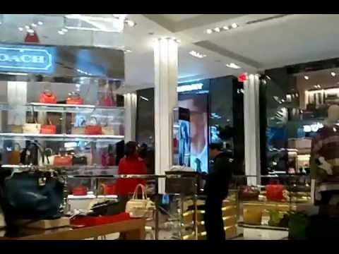 Macy's Herald Square New York NY Coach and Michael Kors New Handbag Display