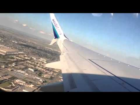 West Jet flight  take off from Calgary to Haminton