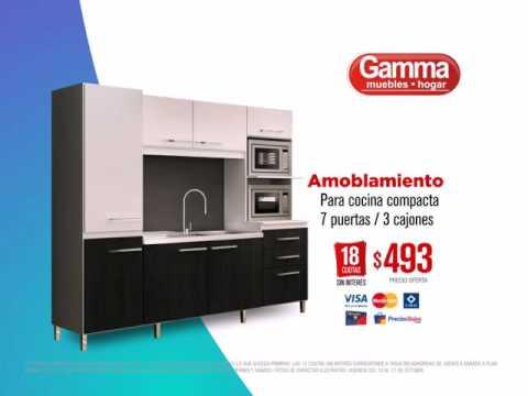 Amoblamientos de cocina rebajados en Gamma - YouTube
