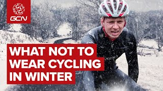 What NOT To Wear Cycling In Winter