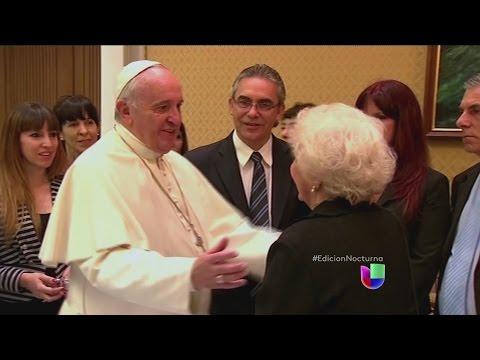 El Papa se reunió con Estela Carloto, líder de La Plaza de Mayo