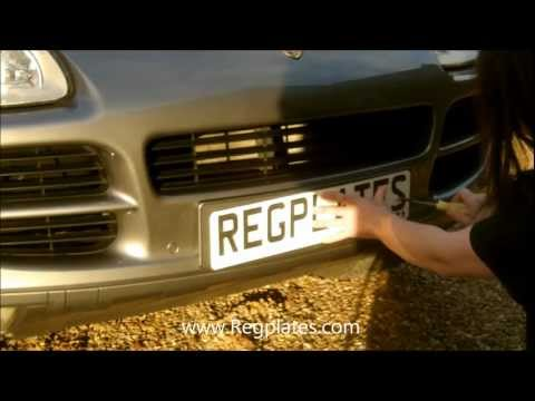 Regplates.com Guide How To Fit Number Plates, Drill, Fitting Personalised Private Attach To Your Car