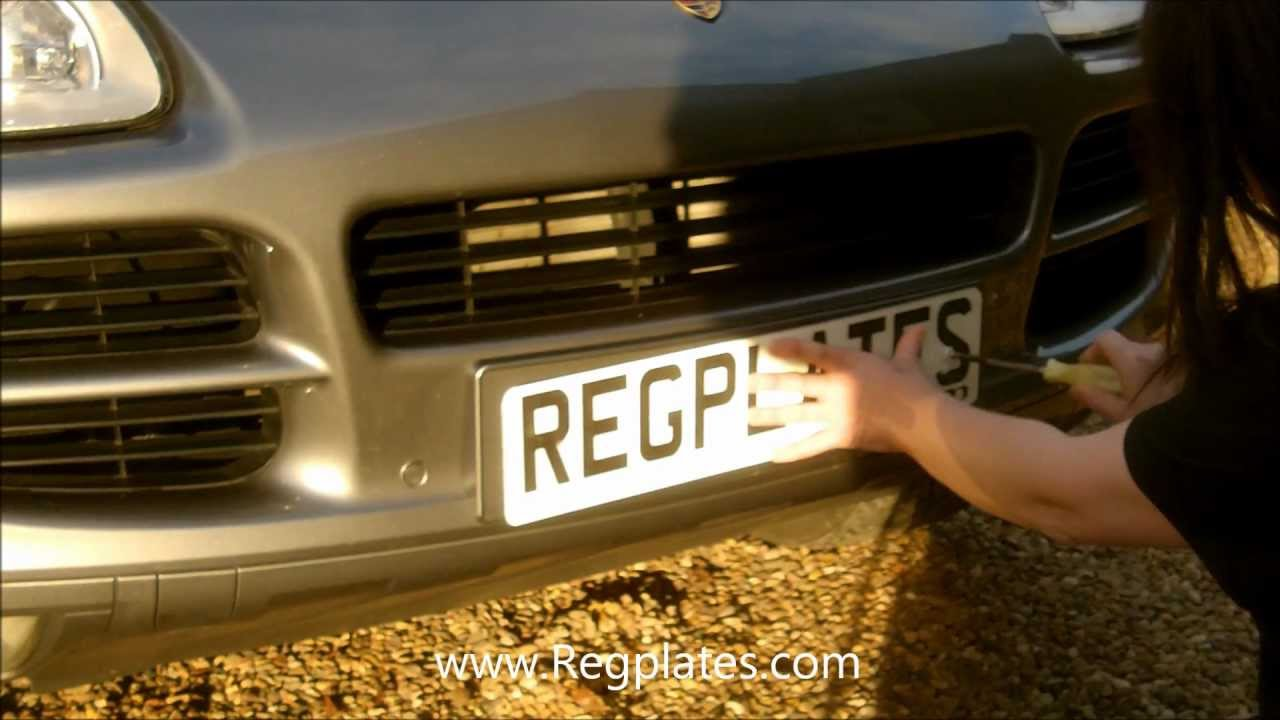 Car colour number plate - Regplates Com Guide How To Fit Number Plates Drill Fitting Personalised Private Attach To Your Car Youtube