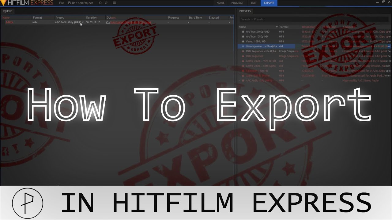 How To Export In Hitfilm Express