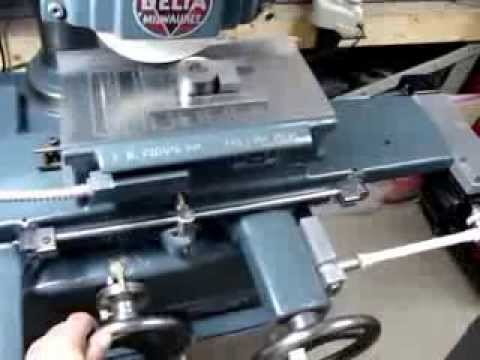 Vintage Delta Surface Grinder Homemade Table Feed Youtube