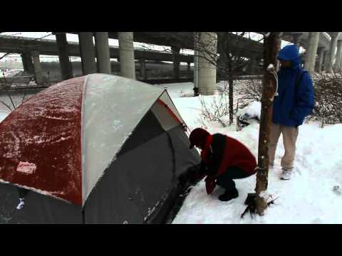 Homeless young adults live under the Zakim Bridge