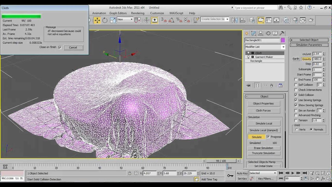 Cloth modifier tutorial 3d max youtube for Tutorial 3d max