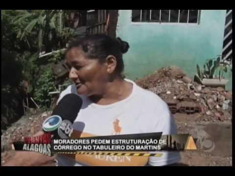 Moradores pedem ajuda para estruturar córrego