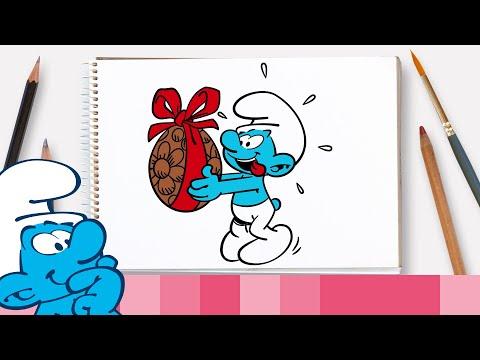 Coloriage schtroumpf buzzpls com - Comment dessiner un schtroumpf ...