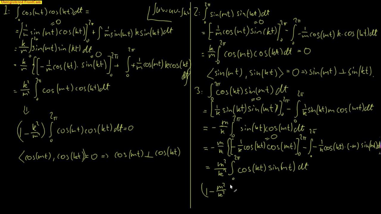 Anvendt lineær algebra 12.5 - Ortogonale funksjoner (bevis)