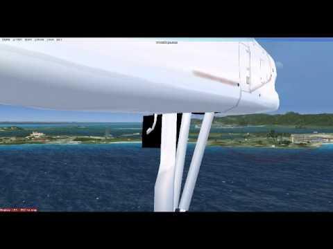 [HD] Caribbean Airlines Dash 8 St Maarten Landing (FSX)
