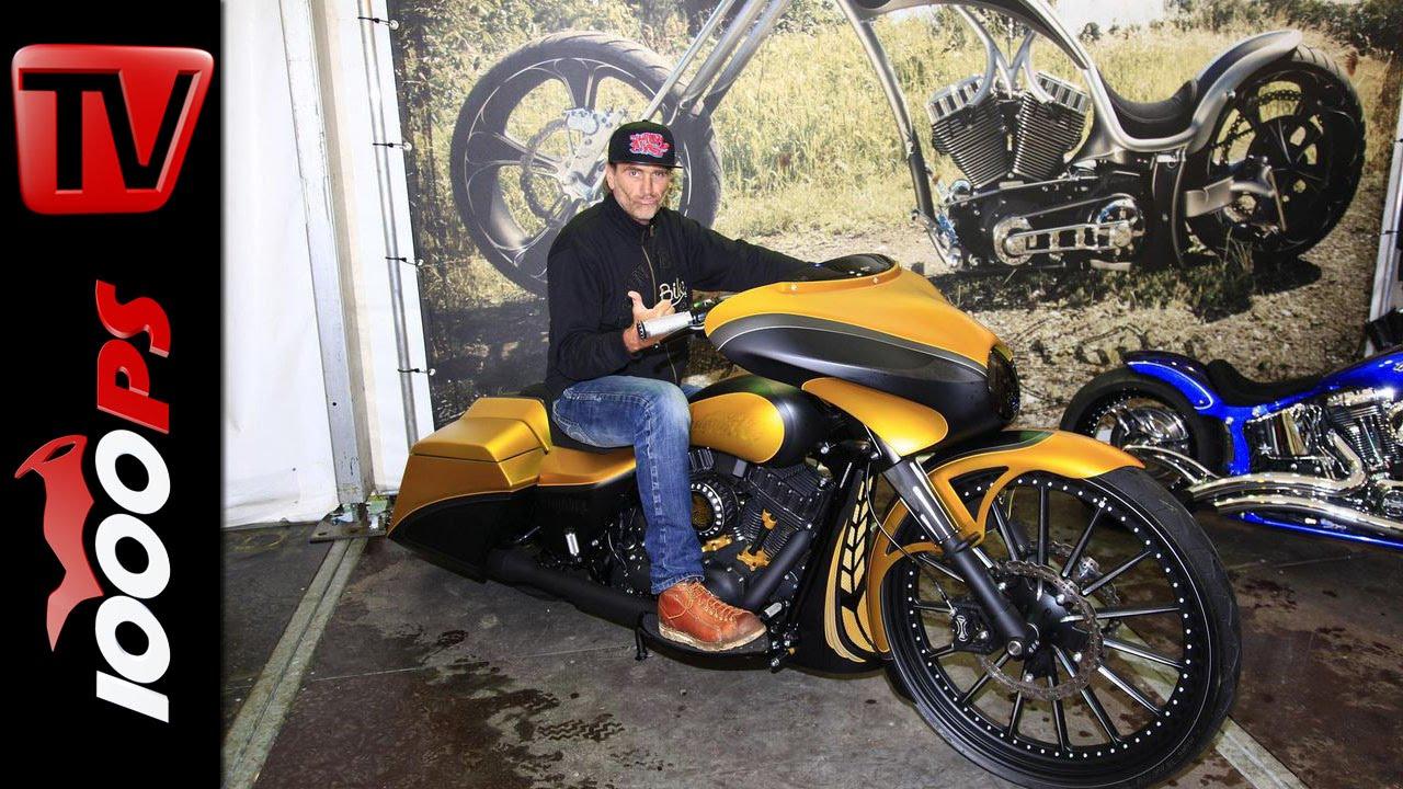 thunderbike harley davidson bagger mit 30 zoll felge custombike youtube. Black Bedroom Furniture Sets. Home Design Ideas