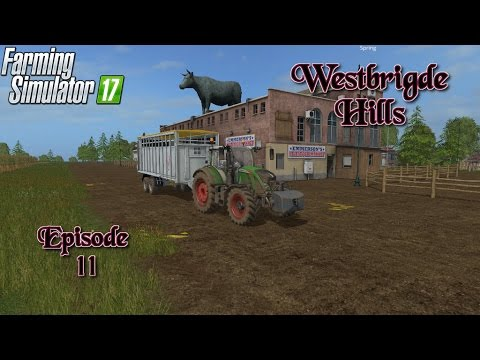 Let's Play Farming Simulator 17 WestBridge Hills Ep 11 Buying Cows