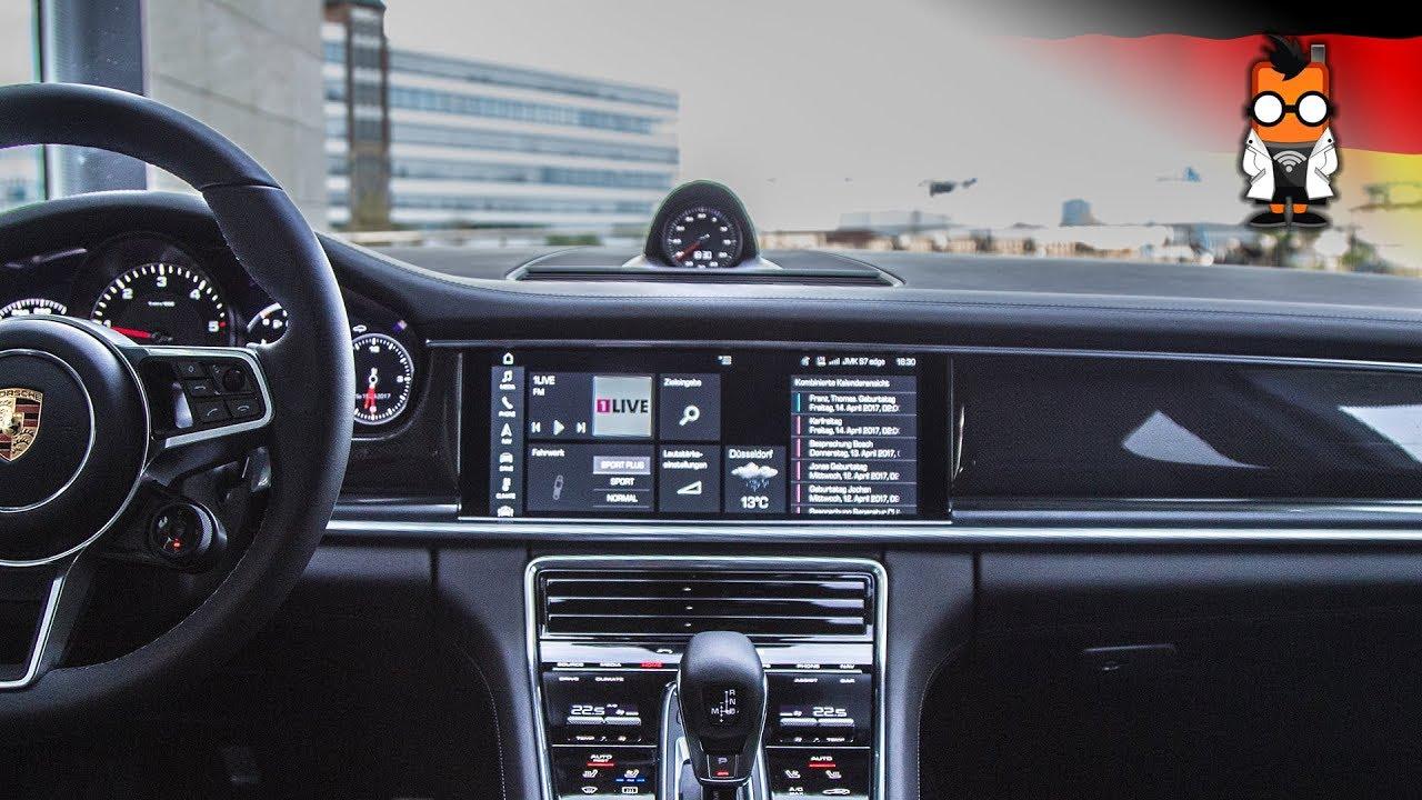 Porsche Pcm Amp Car Connect App Test Im Panamera Youtube