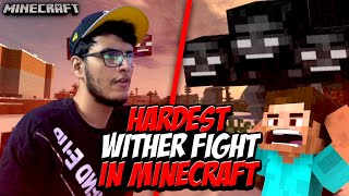 HARDEST Wither Boss Fight in Minecraft