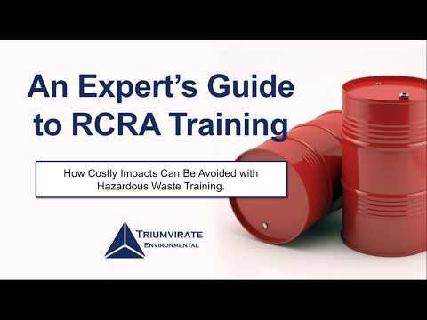 Webinar: An Expert's Guide to RCRA Training
